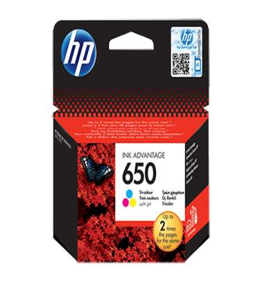 HP 650 Tri-Color Cartridge image 1