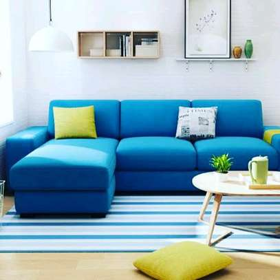 Blue four seater sofa for sale in Nairobi Kenya/Blue sofas and Sectionals sale kenya/Modern blue L shaped sofas image 1