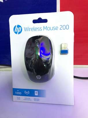 HP 200 Wireless Optical Mouse (X6W31AA#ABL) Black - New image 1