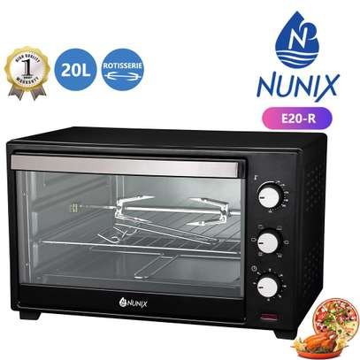 Nunix 20L Electric Rotisserie Oven Microwave image 1