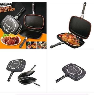Double sided grill pan on offer image 1