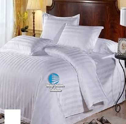 Stripped white cotton duvet covers image 5