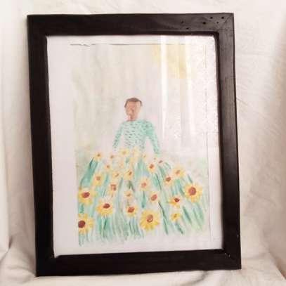 Man in Field of Sunflower Portrait image 1