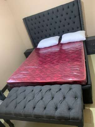 King 5*6 Bed, Comes with a mattress