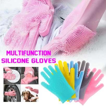 Multi-function Silicone Washing Gloves image 2