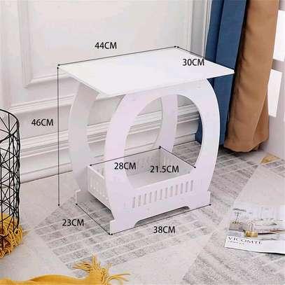 Pure white multipurpose decor stands image 1