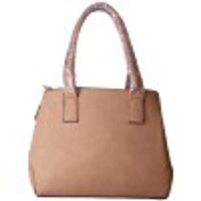 Stylish 4 piece Apricot Hand Bag image 3