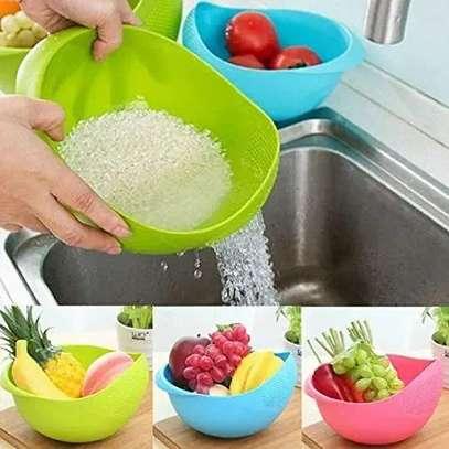 Multipurpose Plastic Washing Bowl & Strainer (Standard Size) image 1