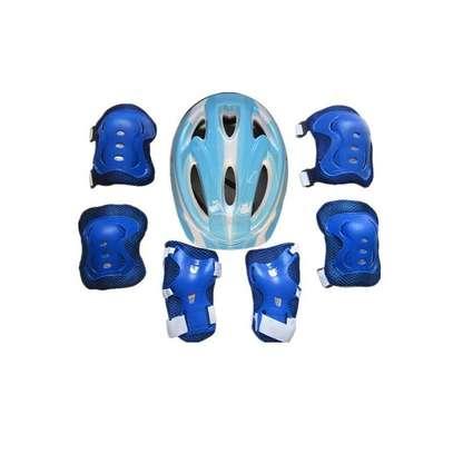 Generic Children Cycling,Skating,Skateboard,Bike - Helmet+Elbow,Knee &Wrist Pads Protective Gear image 2