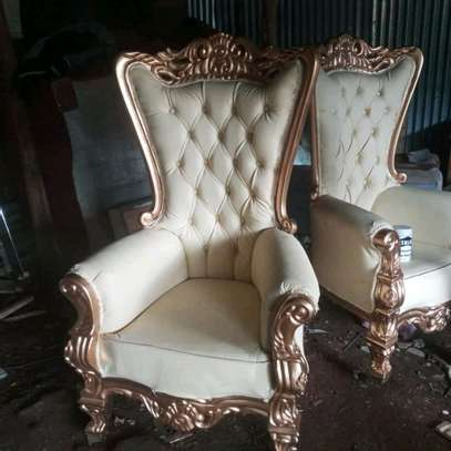 Elegant Timeless Antique Wingback Chairs image 2