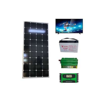Complete solar pannel kit 100watts plus 24inches Tv image 1
