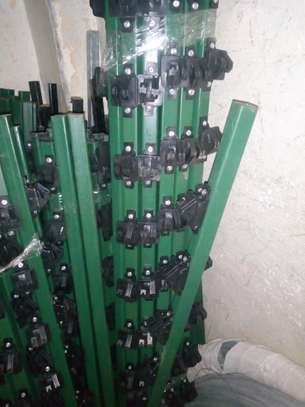 Electric fence insulated posts