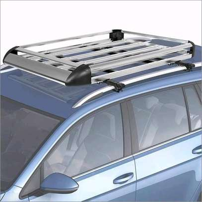 50 x 38 Aluminum Car Roof Rack with Crossbars + Installation image 1