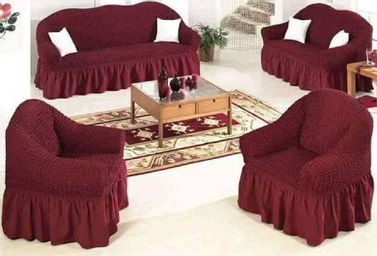 sofa covers 5 sitter maroon image 1