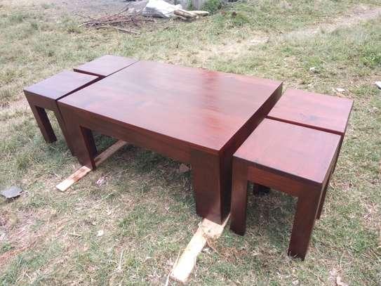 Mahogany Coffee Table Set image 1