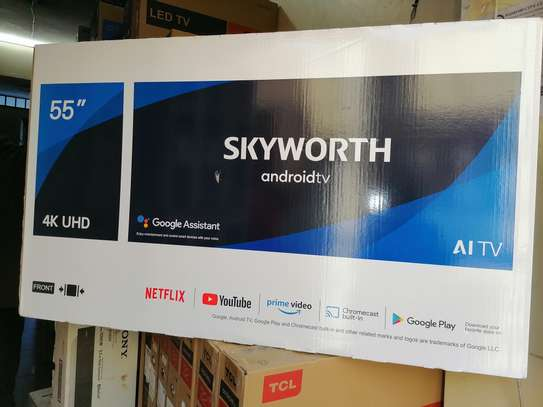 Skyworth 55 inch smart uhd 4k android G3A android 10 image 1