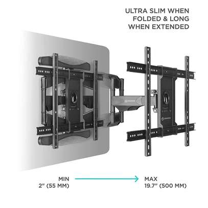 """Full Motion Articulating TV Wall Mount for 40"""" to 70 Inch Flat Screen LED LCD TVs up to 100lbs P6 image 3"""