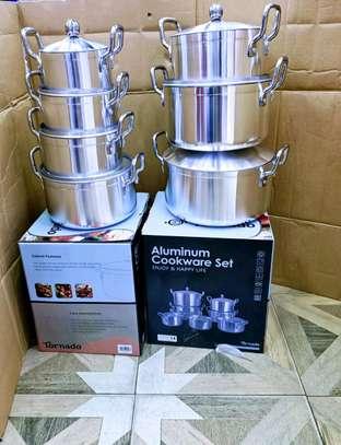 Aluminum Cookware set 14 pieces image 1