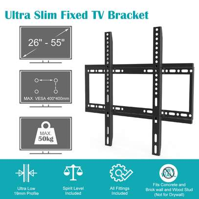 Slim TV Wall Bracket Mount Fixed For 26 40 42 46 50 52 55 Inch TV LCD LED Plasma image 1