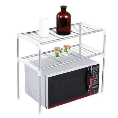 Double Layers Storage Shelf Microwave Oven Rack image 1