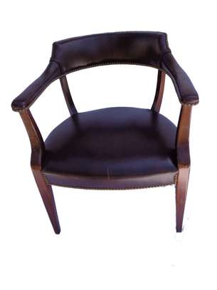 A set of Danish style dining chairs