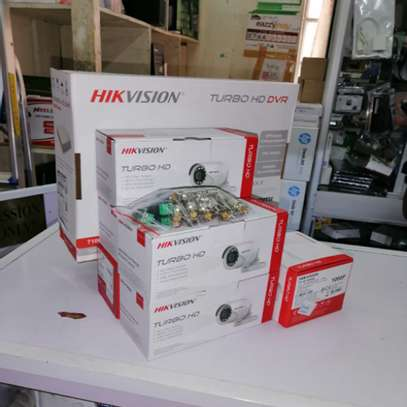 6 Six Hikvision 720p 1mp Complete CCTV Cameras System Package image 1