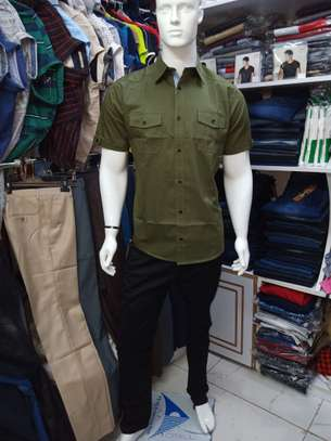 cotton slim fit casual shirts for men