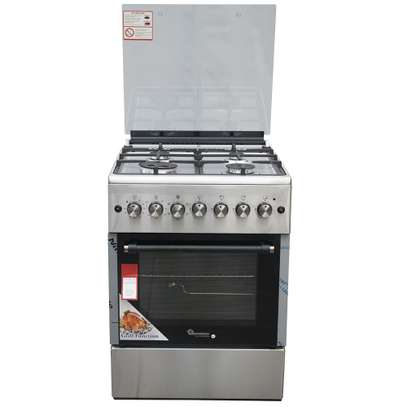 RAMTONS 4GAS+ELECTRIC OVEN 60X60 STAINLESS STEEL COOKER- RF/492 image 1