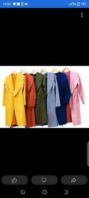 Suede trench coat image 1