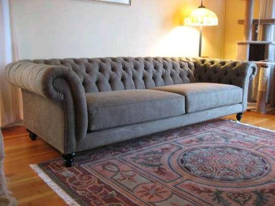 Grey chesterfield sofa set for sale in Nairobi Kenya/three seater sofa set image 1
