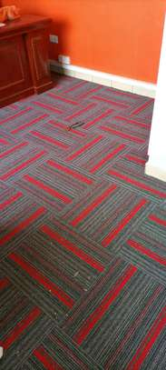 wall to wall red carpet, office carpet image 1