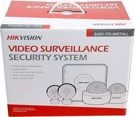 """HIKVision AHD 720P 4 Channel DVR 500GB HDD 4x AHD Cameras Dome Day/night vision All Weather 15"""" TFT Monitor CCTV Kit image 4"""