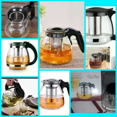 Glass Teapot with Removable Stainless Steel Strainer.* (1100ml) image 1
