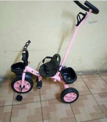 Adjustable Tricycles with handle and seat belt image 1