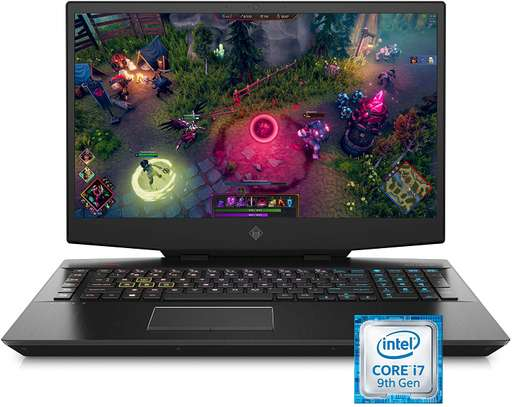 Omen by HP 2019 17-Inch Gaming Laptop, Intel i7-9750H, NVIDIA GeForce RTX 2060 (6 GB), 16 GB RAM, 512 GB Solid-State Drive, VR Ready, Windows 10 Home (17-cb0070nr, Shadow Black) image 1