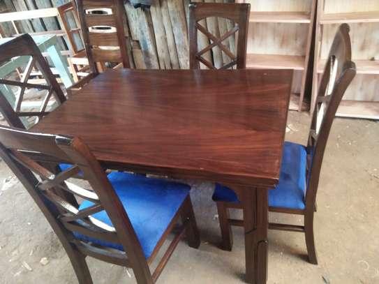 4 seater mahogany dining table image 5