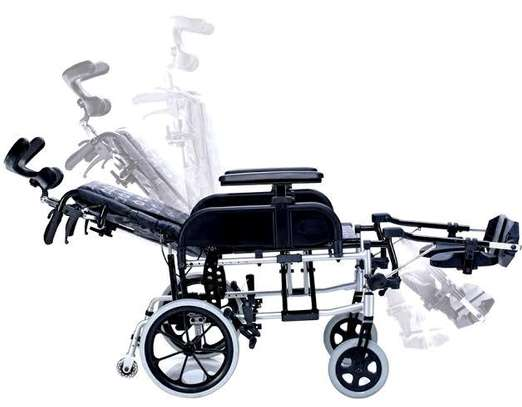 Reclining commode wheelchair image 3