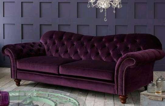 Modern chesterfield sofas)three seater sofasets for sale in Nairobi Kenya/latest sofa set designs image 1