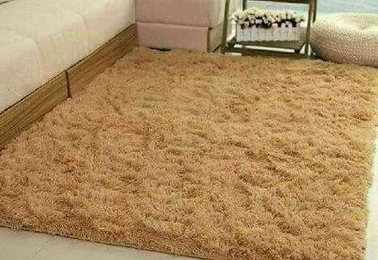 Brown fluffy carpets