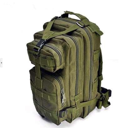 Olive green vintage army bag pack image 1