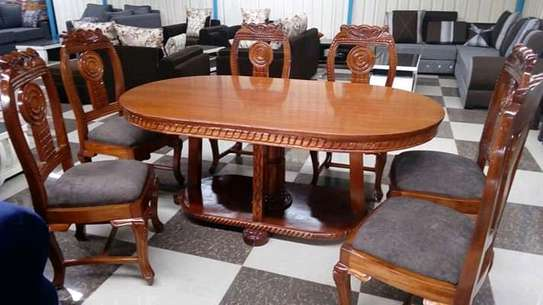 Solid mahogany dining tables(6 seaters) image 2
