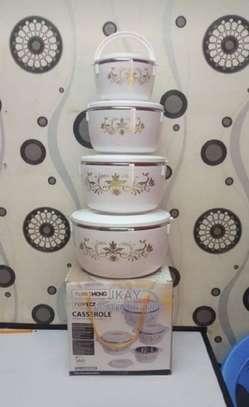 4 Pc Casserole/Hot Pots Set image 1