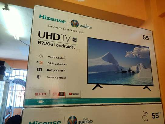 Hisense 55 inches smart android uhd tv