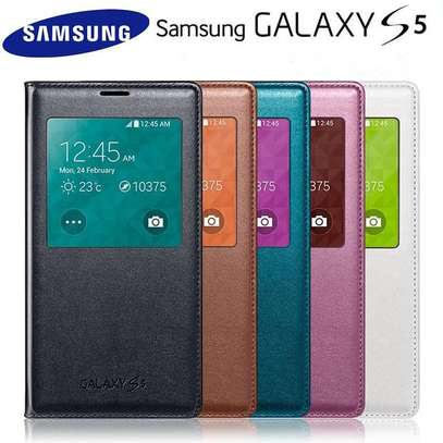 Smart S View Flip PU Leather Wallet cover case for Samsung Galaxy S5 w IC Chip image 3