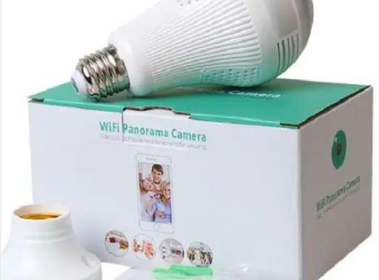 Full HD 1080P Wifi Bulb LED Wireless Panoramic 360 Camera image 1