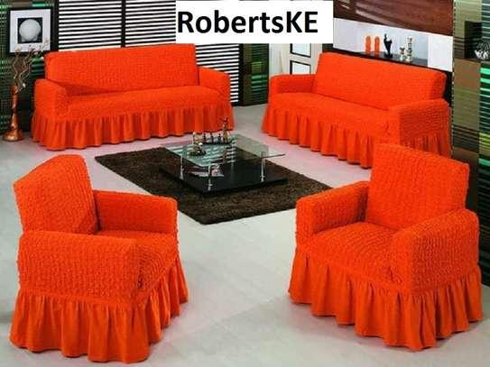Elegant elastic sofa cover 5 sitter image 1