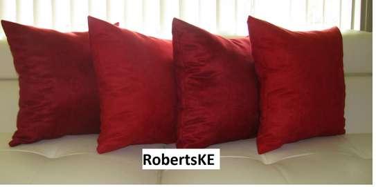 Maroon throw pillows image 1