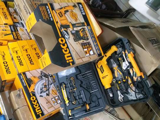 Ingco 101 Pieces With 350watts Drill Tool Kit image 1