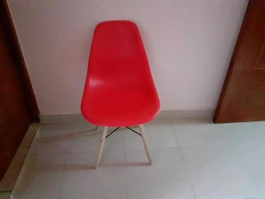 Red Eames chair image 1