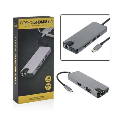Type C To Hdmi 8 In 1 Hub image 1